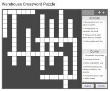 Warehouse Crossword Puzzle