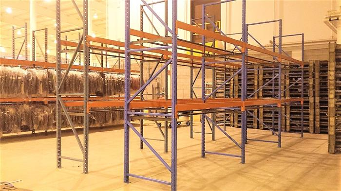 used pallet racking custom installation.