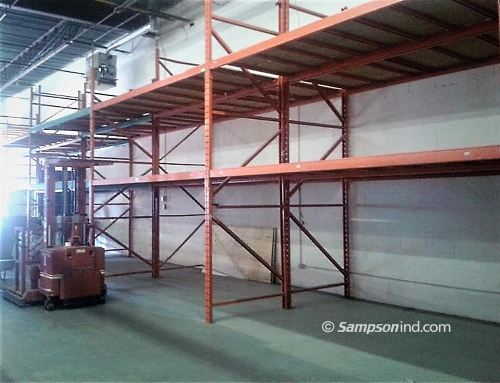 A double pallet racking application installed by Sampson Industrial.
