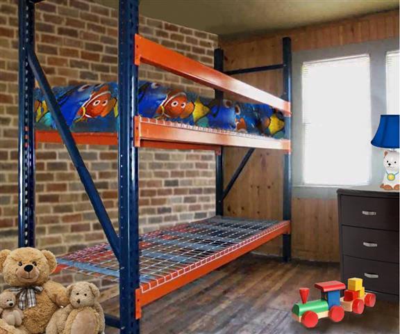 Firewood rack - Re-purposed industrial pallet racking